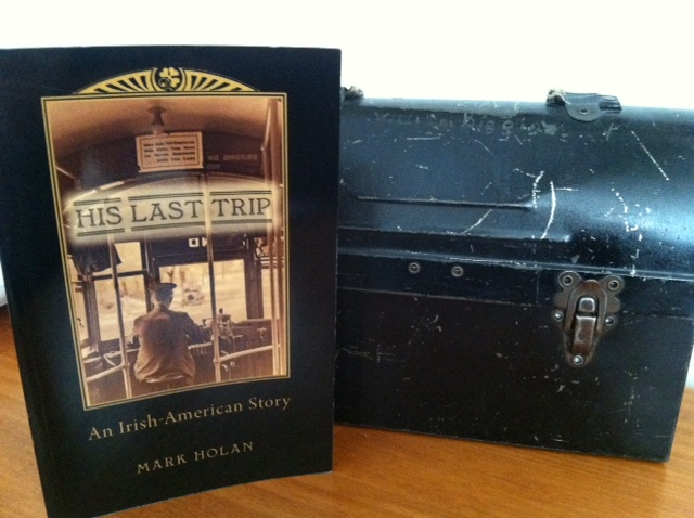 A copy of my book about my grandfather Willie Diggin, and his streetcar company lunchbox with name engraved in the top.